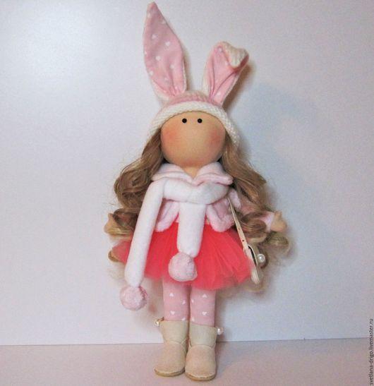 Коллекционные куклы ручной работы. Ярмарка Мастеров - ручная работа. Купить Куколка Милана. Handmade. Розовый, кукольные волосы