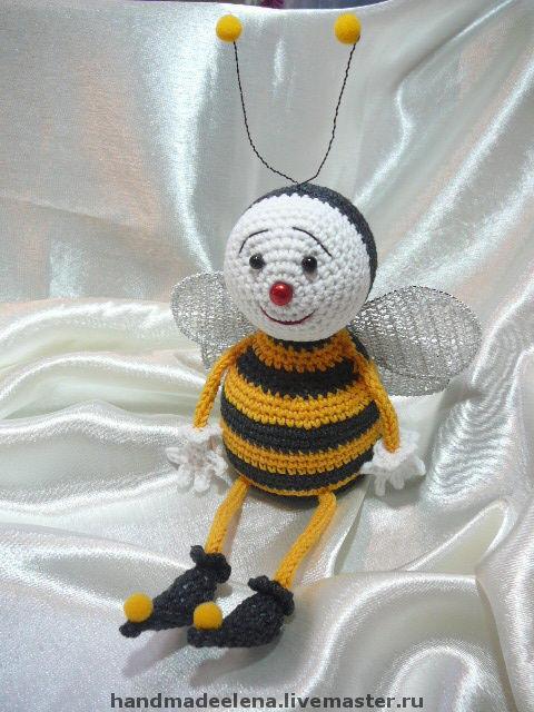 Игрушки животные, ручной работы. Ярмарка Мастеров - ручная работа. Купить Пчелка Розочка. Handmade. Пчелка, рождество