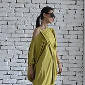 Одежда ручной работы. Ярмарка Мастеров - ручная работа Зеленый топ, летняя туника. Handmade.