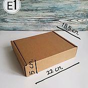 "Коробки ручной работы. Ярмарка Мастеров - ручная работа Коробки: Почтовая коробка типа ""Е1"" (22 х 18,5 х 5 см.). Handmade."