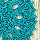 Текстиль, ковры ручной работы. Салфетка крючком темно-бирюзового цвета. Ирина (IRSIcrochet). Интернет-магазин Ярмарка Мастеров. Подарок