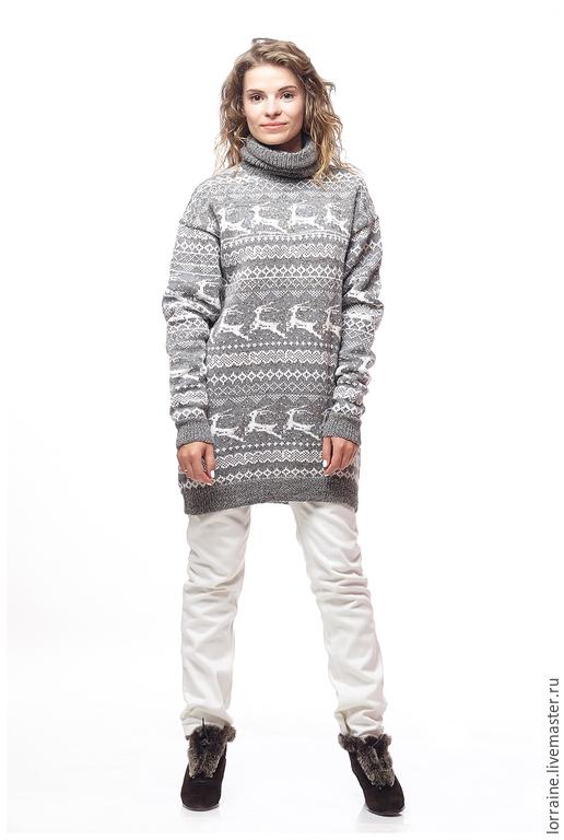 Женский длинный свитер доставка