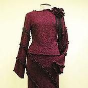 Одежда ручной работы. Ярмарка Мастеров - ручная работа Комплект - юбка и джемпер из трикотажного полотна. Handmade.