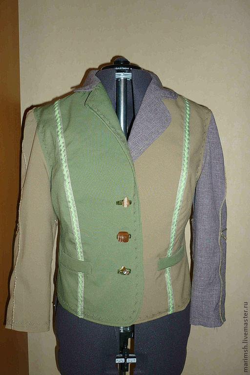 Пиджаки, жакеты ручной работы. Ярмарка Мастеров - ручная работа. Купить Жакет. Handmade. Однотонный, разноцветный, на подкладке, Подкладочная ткань