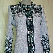 Одежда ручной работы. Ярмарка Мастеров - ручная работа Вязаный кардиган из натуральной шерсти. Handmade.