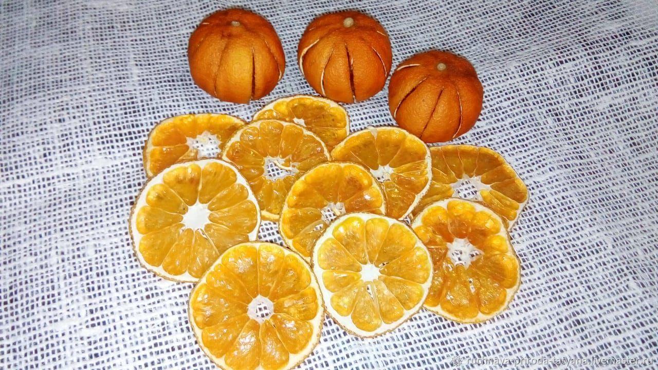 Апельсиновые и мандариновые дольки сушеные 6-7 см, Декор для флористики, Тула,  Фото №1