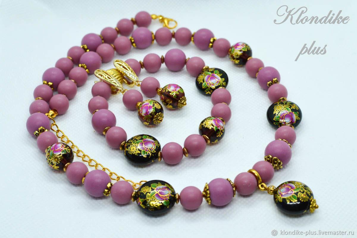 'Golden rose tea ' jewelry set with tensh, Jewelry Sets, Bratsk,  Фото №1