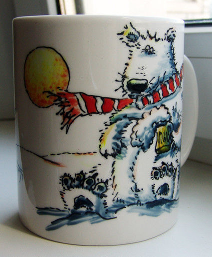 Кружки и чашки ручной работы. Ярмарка Мастеров - ручная работа. Купить Ведмедь и пиво. Handmade. Подарки для мужчин, пиво, медведь