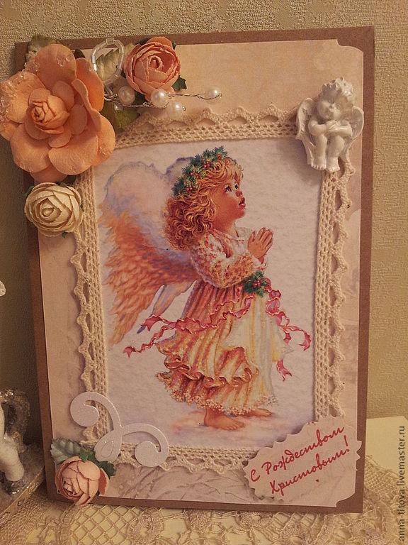 Открытки с ангелами ручной работы