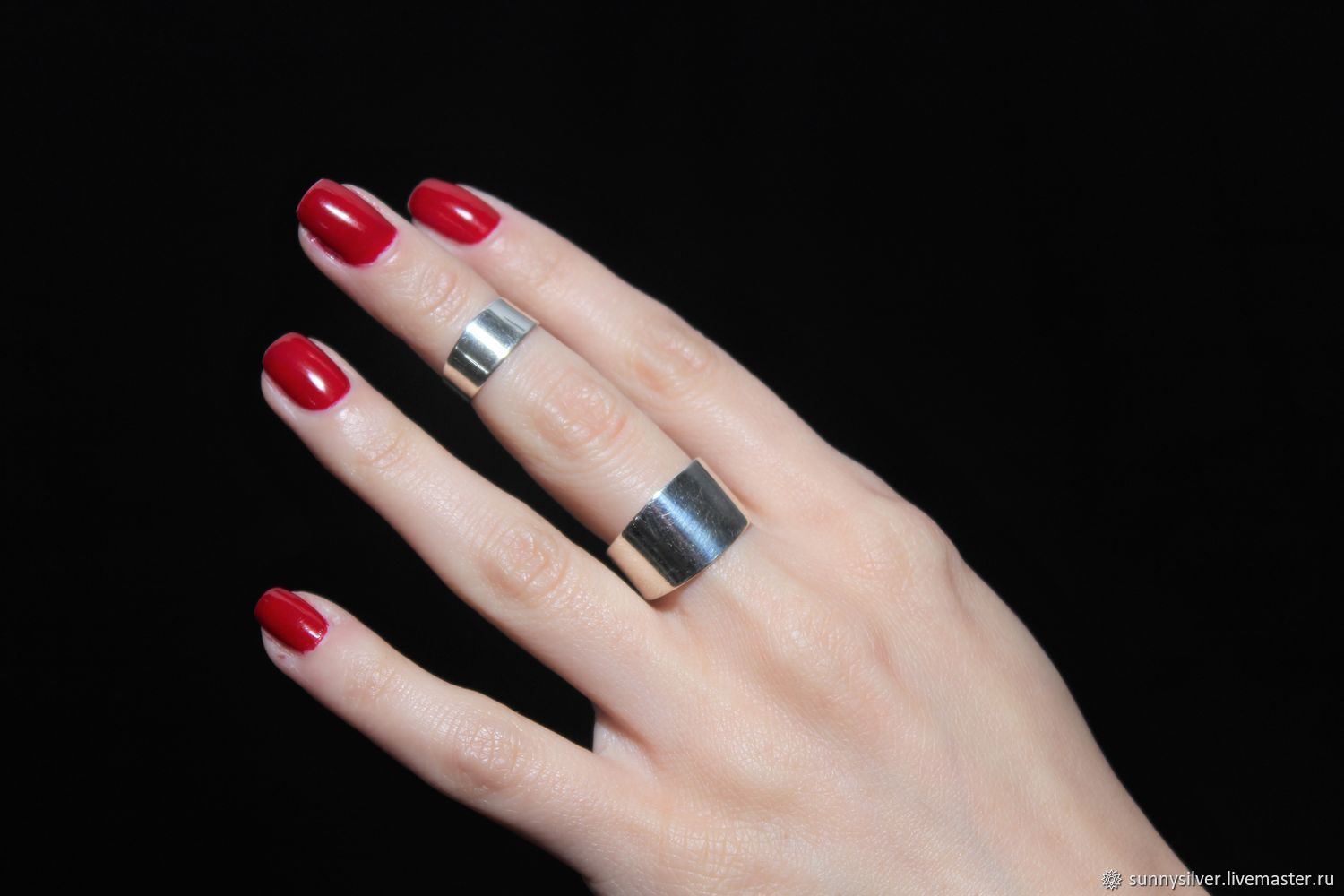 Minima Series double ring in polished 925 sterling silver, Rings, Yerevan,  Фото №1
