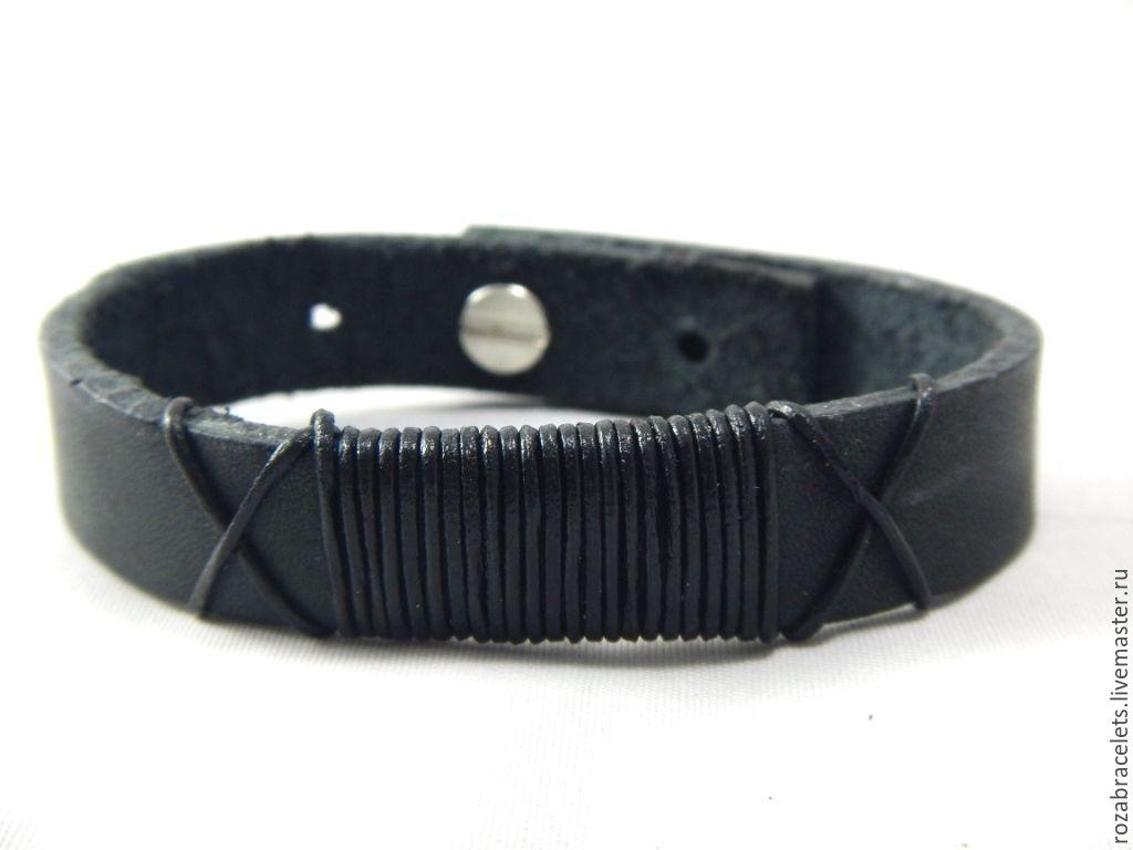 Кожаный браслет оплетки
