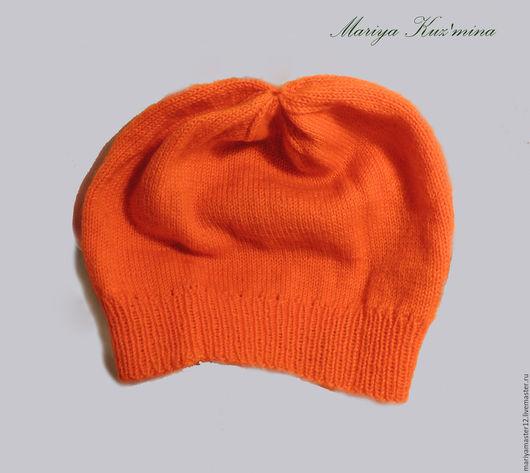 Шапки ручной работы. Ярмарка Мастеров - ручная работа. Купить Оранжевая шапка. Handmade. Рыжий, шапка женская, весенняя шапочка