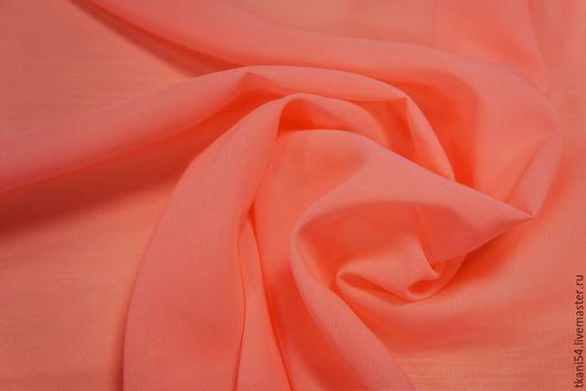 Шитье ручной работы. Ярмарка Мастеров - ручная работа. Купить Ткань плат. шифон, 150 см, розовый неон. Handmade.