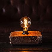 Подарки к праздникам ручной работы. Ярмарка Мастеров - ручная работа Оригинальный лофт-светильник из кирпича 19 в. без клейма. Handmade.