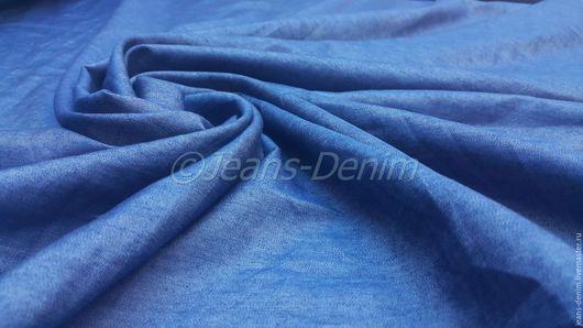 Шитье ручной работы. Ярмарка Мастеров - ручная работа. Купить Джинса Тонкая Синяя. Handmade. Синий, джинсовое платье, полиэстер