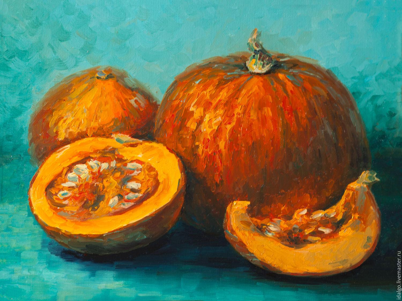 Oil painting 'Sunny pumpkin', Pictures, Nizhny Novgorod,  Фото №1