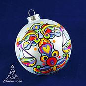 Подарки к праздникам manualidades. Livemaster - hecho a mano Elochnyj bola de navidad juguetes, elochnaya juguete de los signos del zodíaco de Libra. Handmade.
