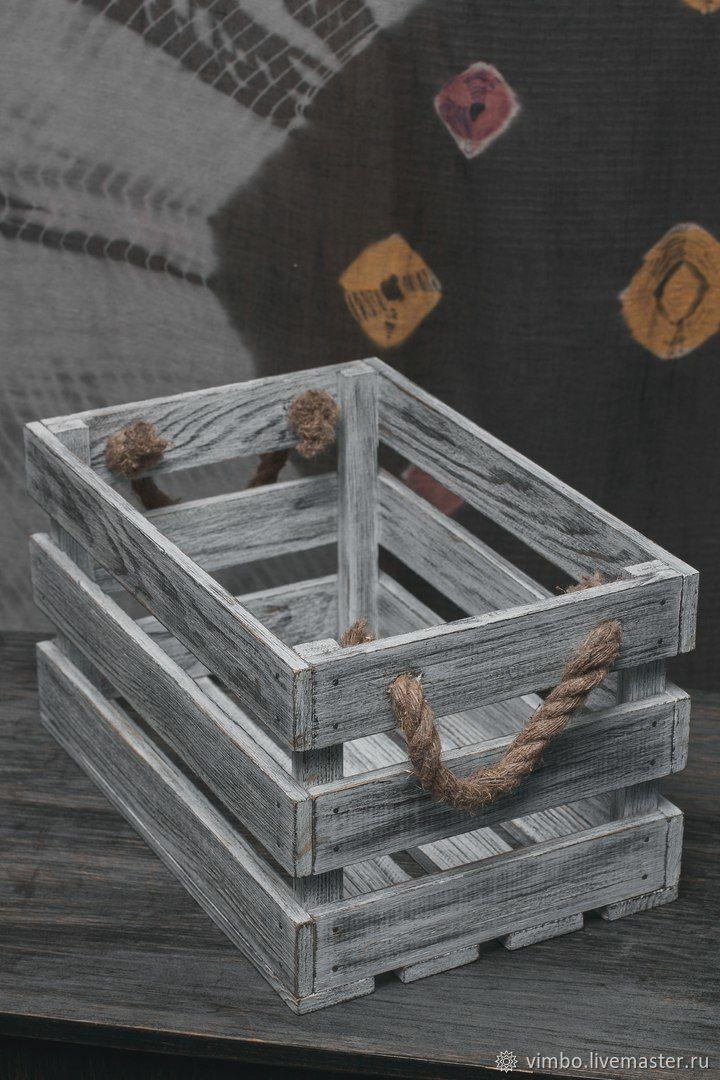 Корзины, коробы ручной работы. Ярмарка Мастеров - ручная работа. Купить Ящик деревянный с ручками. Handmade. Оригинальный, уютный дом