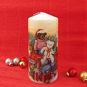 """Подарки к праздникам ручной работы. Ярмарка Мастеров - ручная работа """"Новогодняя сказка"""" свеча. Handmade."""