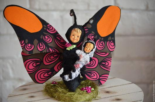 Мишки Тедди ручной работы. Ярмарка Мастеров - ручная работа. Купить Бабочка с куколкой. Handmade. Комбинированный, насекомое, Стеклогранулят