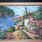 Картины и панно handmade. Livemaster - original item Painting, embroidery Painting, Embroidered painting On the South coas. Handmade.