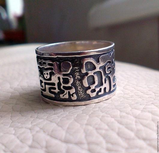 Кольца ручной работы. Ярмарка Мастеров - ручная работа. Купить Кольцо Ацтек. Handmade. Серебряный, серебряное кольцо
