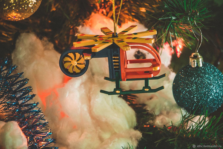 Открытка новый год вертолет