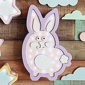 Для дома и интерьера ручной работы. Ярмарка Мастеров - ручная работа Детский светильник Кролик Толик. Handmade.