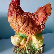 Статуэтки ручной работы. Ярмарка Мастеров - ручная работа Курица с цыплятами. Handmade.