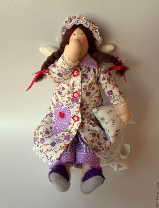 Куклы Тильды ручной работы. Ярмарка Мастеров - ручная работа. Купить Ангел сладких снов Сплюшка. Handmade. Сиреневый, кружево