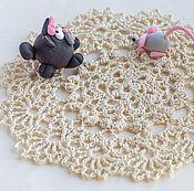 Для дома и интерьера ручной работы. Ярмарка Мастеров - ручная работа Маленькая салфетка под телефон. Handmade.