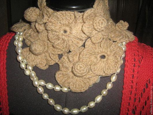 шарф из цветов