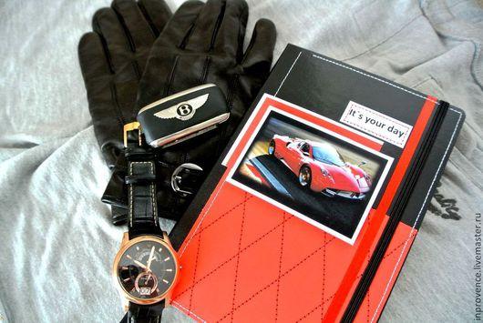 Ежедневник блокнот мужской красный подарочный Это твой день. Ежедневник для автомобилиста. Подарок любимому.Блокнот ручной работы. Индивидуальный ежедневник на заказ.