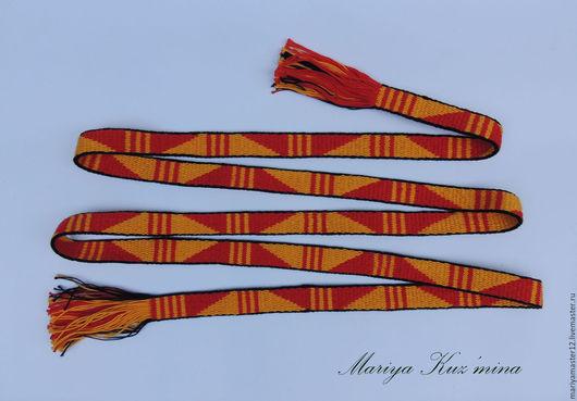 Одежда ручной работы. Ярмарка Мастеров - ручная работа. Купить Пояс женский. Handmade. Комбинированный, народная традиция, пояс для костюма