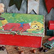 """Для дома и интерьера ручной работы. Ярмарка Мастеров - ручная работа Короб """"Мишуткина поляна..."""". Handmade."""