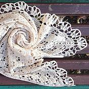 Аксессуары ручной работы. Ярмарка Мастеров - ручная работа Шаль Полет белых бабочек.. Handmade.