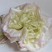 Цветы ручной работы. Ярмарка Мастеров - ручная работа Шёлковая роза-брошь Глория. Handmade.