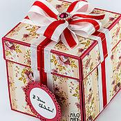 Свадебный салон ручной работы. Ярмарка Мастеров - ручная работа Свадебная коробочка для денег (magic box). Handmade.