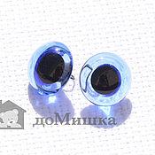 Глаза и ресницы ручной работы. Ярмарка Мастеров - ручная работа Глаза голубые 3-18 мм, стеклянные. Handmade.