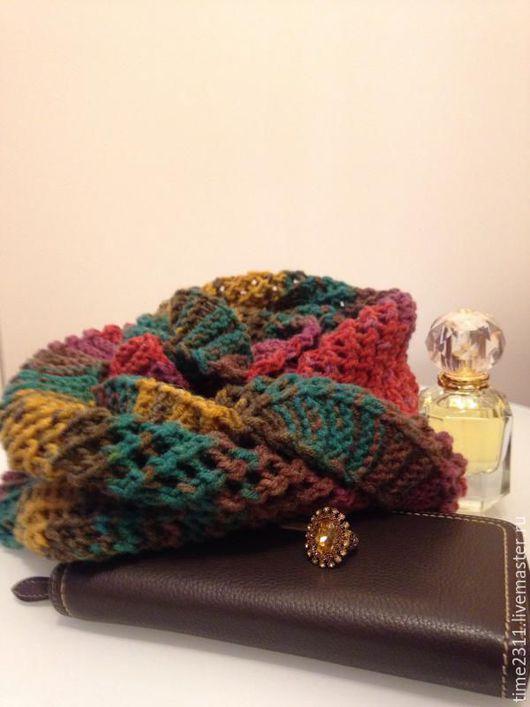 Шарфы и шарфики ручной работы. Ярмарка Мастеров - ручная работа. Купить шарф снуд Розалина. Handmade. Снуд, красивые шарфы