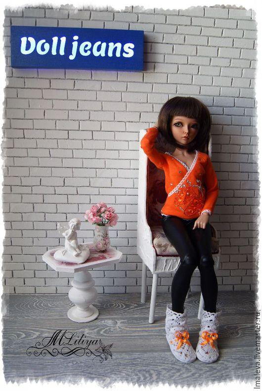 """Одежда для кукол ручной работы. Ярмарка Мастеров - ручная работа. Купить Комплект """"ОРАНЖЕВЫЙ"""". Handmade. Комбинированный, одежда для минифи"""