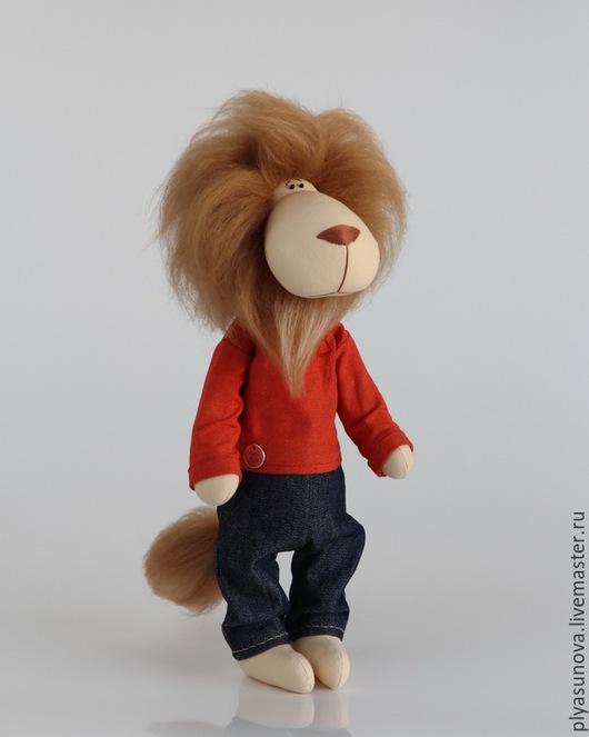 Куклы Тильды ручной работы. Ярмарка Мастеров - ручная работа. Купить Лев - мягкая игрушка в стиле тильда. Handmade. Рыжий
