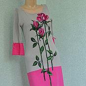 """Одежда ручной работы. Ярмарка Мастеров - ручная работа Платье"""" Розовые розы"""". Handmade."""