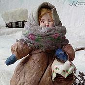 Подарки к праздникам ручной работы. Ярмарка Мастеров - ручная работа Ватная елочная игрушка НАСТЕНА. Handmade.