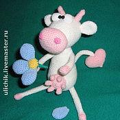 """Куклы и игрушки ручной работы. Ярмарка Мастеров - ручная работа Игрушка """"Влюбленная корова"""". Handmade."""