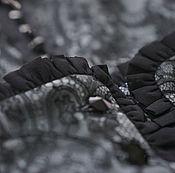 Одежда ручной работы. Ярмарка Мастеров - ручная работа Платье натуральный шелк кружево шантильи. Единственное. Handmade.