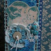 Открытки ручной работы. Ярмарка Мастеров - ручная работа Открытка-конверт на рождение. Handmade.
