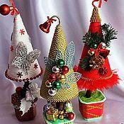 Подарки к праздникам ручной работы. Ярмарка Мастеров - ручная работа Забавные елочки. Handmade.
