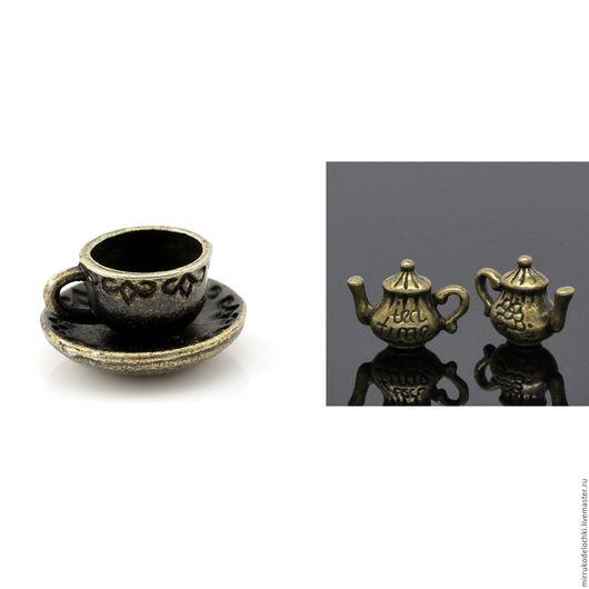 Для украшений ручной работы. Ярмарка Мастеров - ручная работа. Купить Чайник и чайная пара. Handmade. Комбинированный, ключик