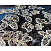 """Одежда ручной работы. Ярмарка Мастеров - ручная работа Вышивка на свадебное платье """"Утонченность"""". Handmade."""